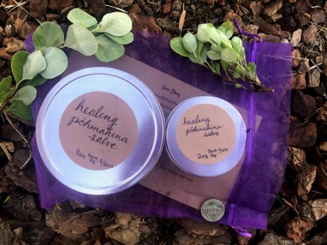 Pōhinahina salve packaged for pickup. Photo courtesy of Kisa Matlin
